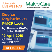 Webinar on Device Registries as PMCF tools